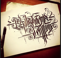 Calligraphy / on Russian language 4 by Wator