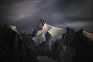 Aiguille de Leschaux at Moonlight by RobertoBertero