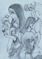 Female Characters by DarkLord-Lamunes
