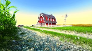 Red barn by Chillay