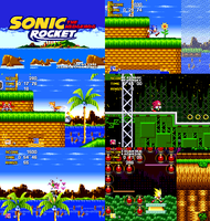 Sonic The Hedgehog Rocket (Hack) - Preview Images by AsuharaMoon
