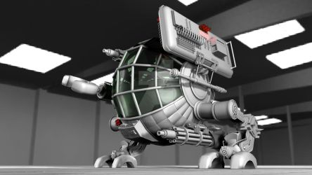 Robot without textures by doudcolossus