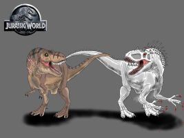 Jurassic World: T. rex Vs. I. rex by TrefRex