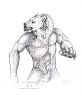Charcoal Werewolf by KeksWolf
