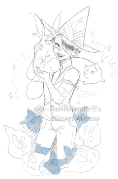Extra sketch for the witch adoptable by Mikkynga