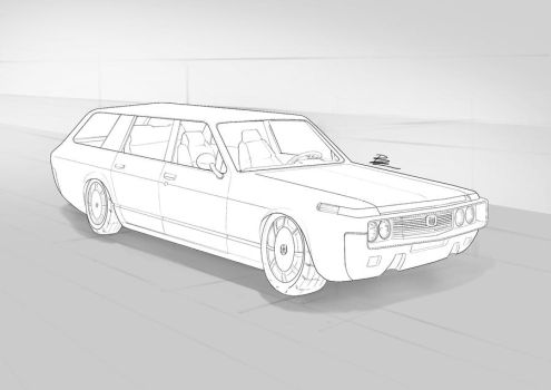 toyota crown wagon by BramastaAji