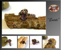 Enoti- wire wrapped ring by mea00