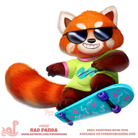Daily Paint 1933# Rad Panda by Cryptid-Creations