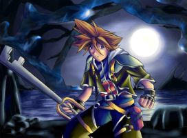 Sora at the deep dive place by powerswithin