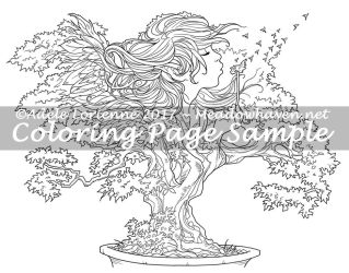 Art of Meadowhaven Coloring Page: Bonsai Wishes by Saimain