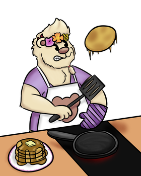 [Art Trade] Cyrus making pancakes by PyrgusM
