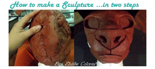 Tutorial: How to do a Sculpture in two steps by Zhiibe