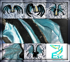 Blue and Black Dragon Wings - Flexible (2014) by Eternalskyy