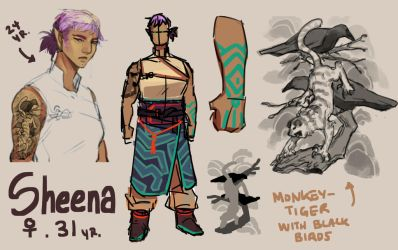 Sheena rough ref by HJeojeo