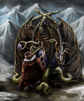 Elder Thing from the Mountains of Madness by Crowsrock