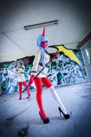 Scanty And Kneesocks I by Serenetxl