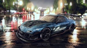 Speed hunters RX7 nfs tribute final 1 by yasiddesign