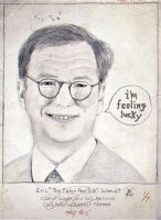 Eric 'The Failed Abortion' Schmidt -Sketch Drawing by rware