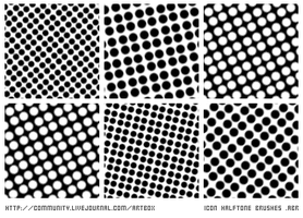 icon sized halftone brushes by mithrialxx