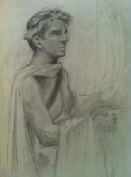 Lifedrawing at Panza Gallery - Caesar by WickedOffKiltah