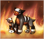 Houndour - Feurige Mutter by Sohilicious