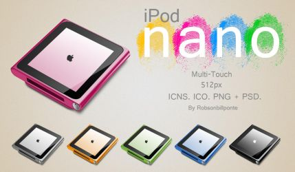 iPod nano Multi-Touch + PSD. by Robsonbillponte666