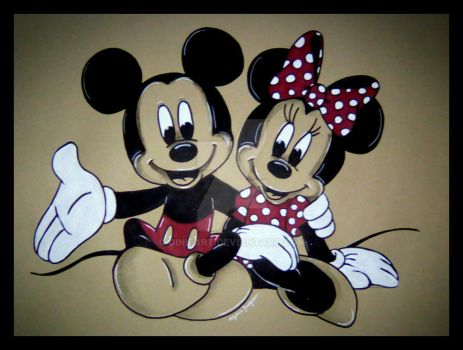 Mickey et Minnie by GinieArt