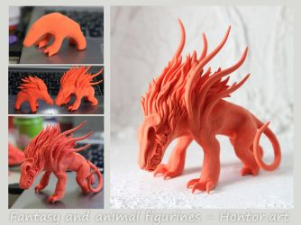Liontari for casting in progress by hontor