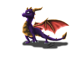 Spyro speedpaint by ExplodedPineapple