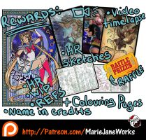Patreon Rewards 2016 by MarieJaneWorks