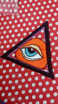 All Seeing Eye Embroidery by tobilou