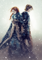 Game of Thrones - Sansa and Theon by venquian