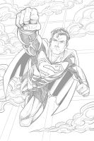 Superman Pencils by Brian-Robertson