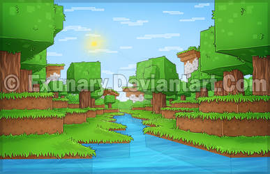 Minecraft ''a river'' by Exunary