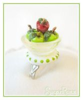 Lil bowl of Apples ring by SugarRoxx