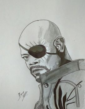 Nick Fury by bonnymathew