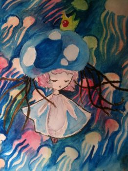 jelly fish girl by Art-face
