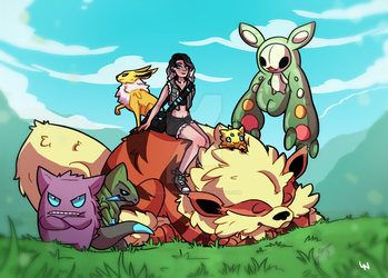 Updated Pokemon Team by casual-pancakes