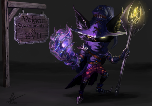 Veigar, The tiny master of evil REDESIGN [LoL] by Snook-8