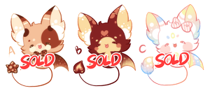 |CLOSE Auction|SB 1pts/$0.01 Cute Bat adopt! by RenAyumeArts