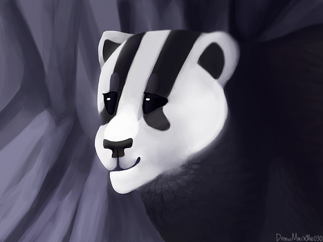 25) Here Comes dat Badger by Drawmachiine