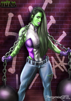 SHE HULK   digital art  (Sue Lasmar) by killbiro