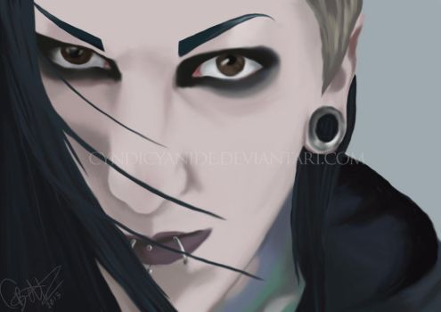 Chris Motionless by cyndicyanide