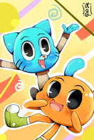 Gumball and Darwin by Co0kie-Cat