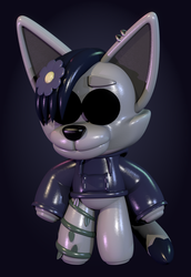 Silver Plushie (Commission) by Zylae