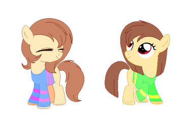 Comm: Frisk and Chara Customs by SansTheSkeIeton