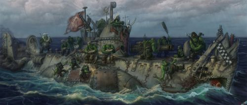 Orcs submarine by TolyanMy