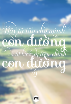 01.Con Duong Typography by BynluvSohee