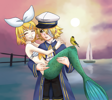 The Sailor And The Mermaid by Cleopatrawolf