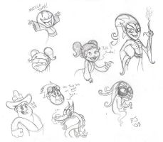 Xiaolin Showdown Sketchaz by dustindemon